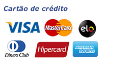 Cartão de crédito Visa mastercard elo diners hipercard american express